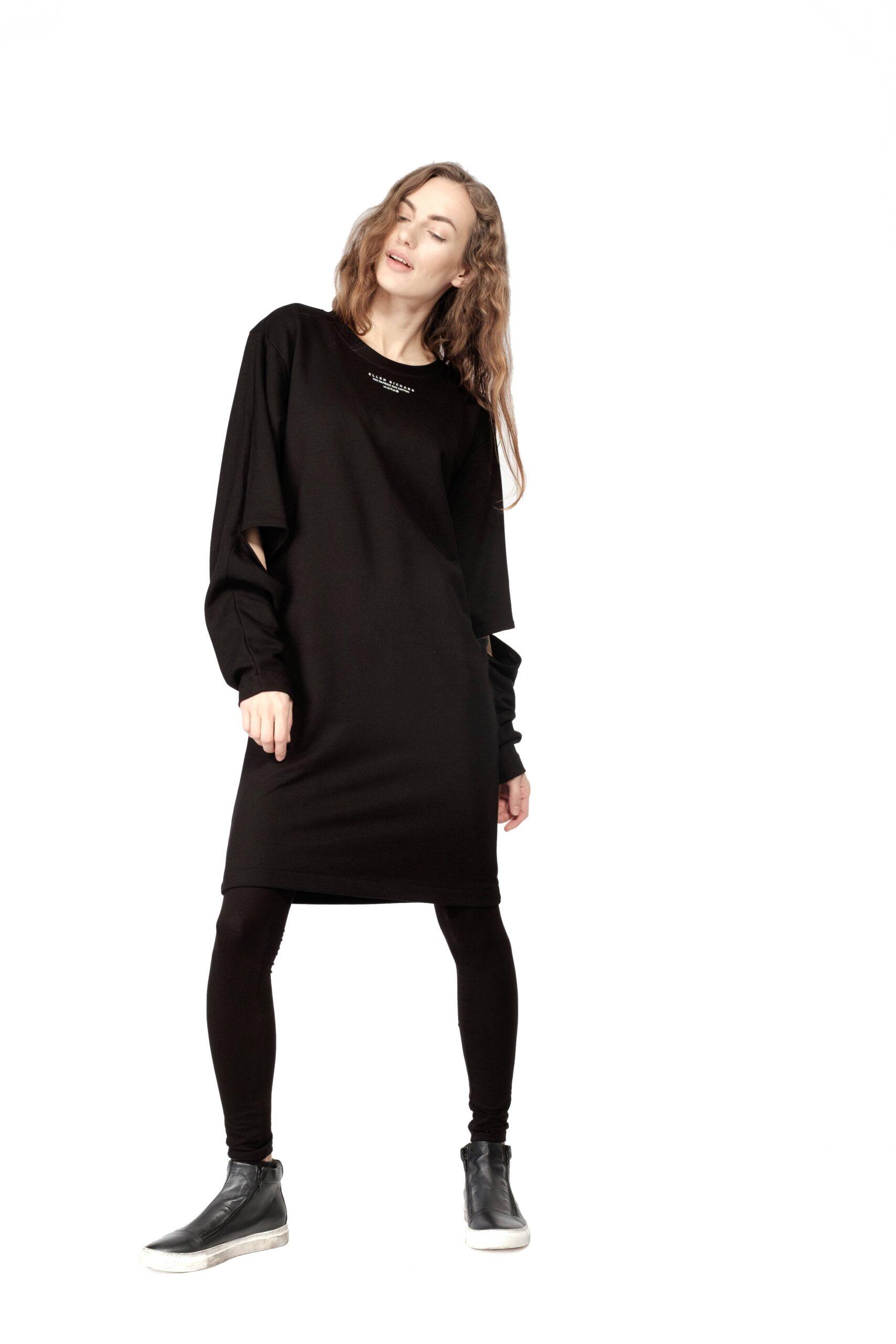 Pikk Yoko kleit must/ tumehall 9̶9̶€̶ 69€
