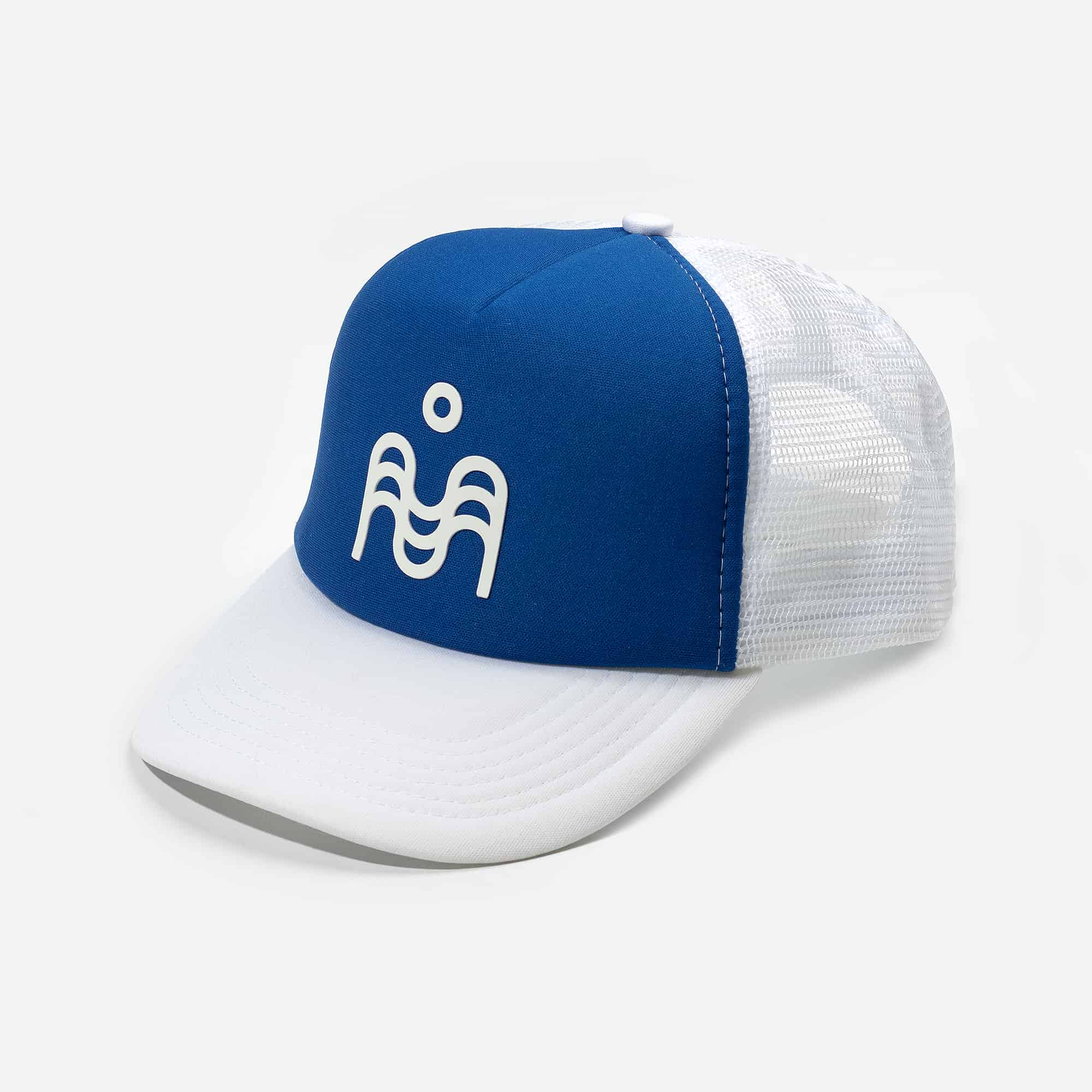 Võrkmüts sinine-valge 25€