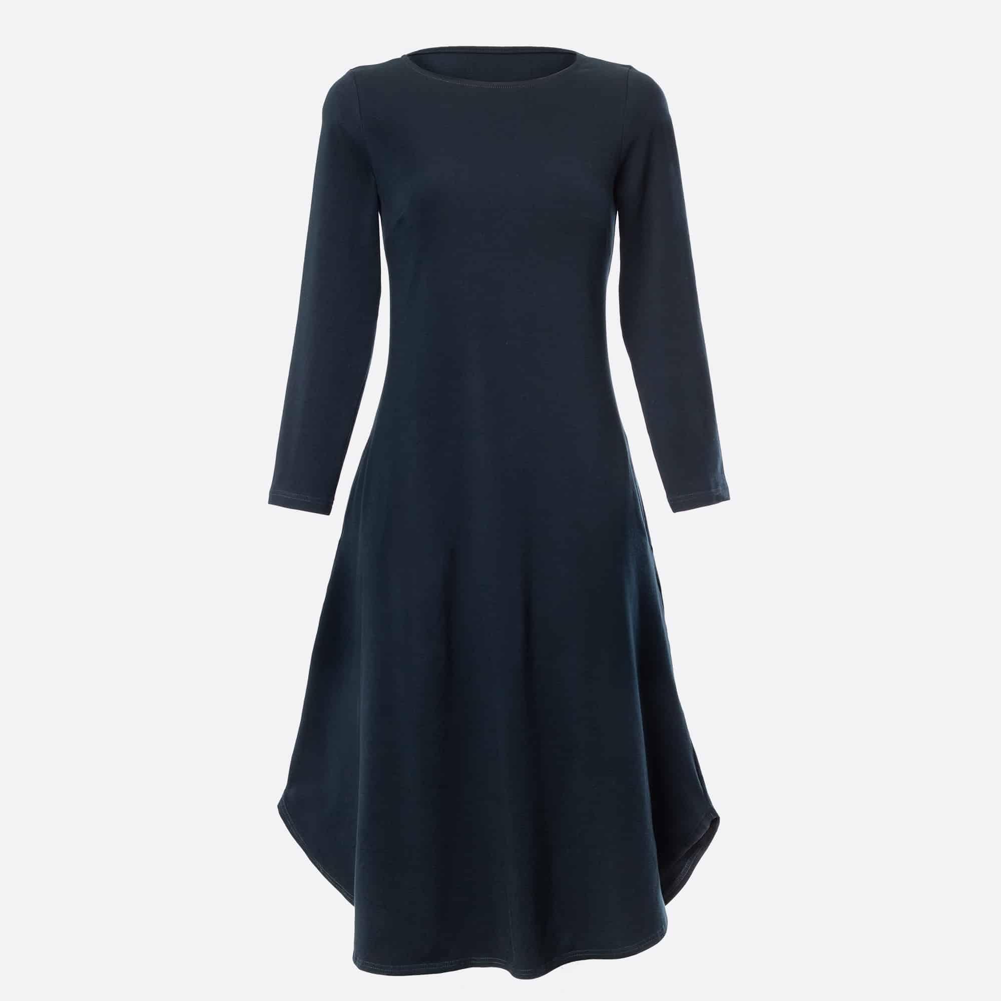 Naiste puuvillane kleit tumesinine 55€
